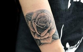 ブラックアンドグレイ 薔薇