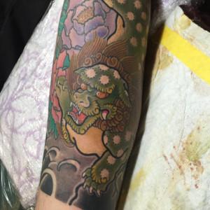 和彫り|唐獅子牡丹のタトゥー/刺青