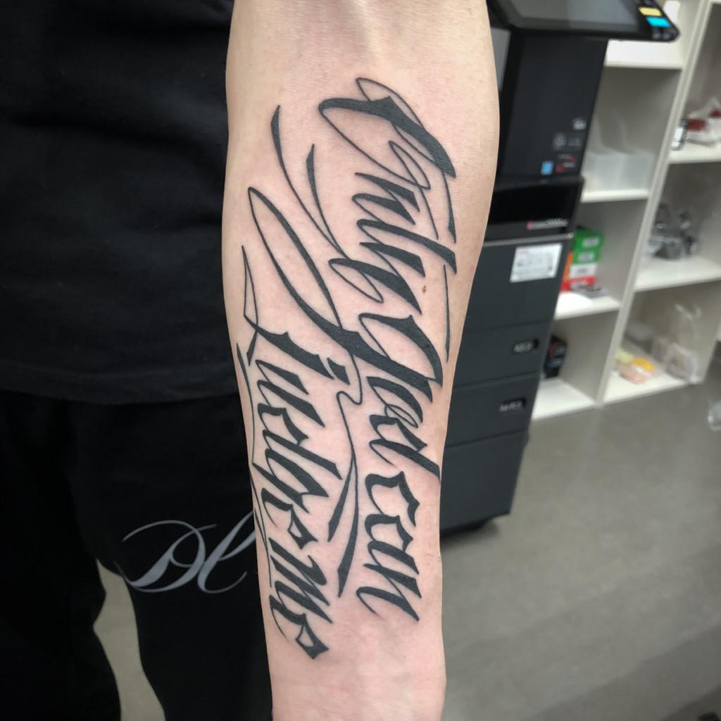 文字のタトゥー|レタリングタトゥー